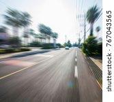 korea jeju island highway | Shutterstock . vector #767043565