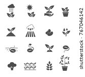 plants icons set vector | Shutterstock .eps vector #767046142