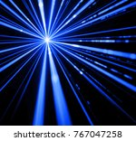 blue laser beam light effect on ... | Shutterstock . vector #767047258
