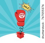 boxing day card sale   Shutterstock .eps vector #767055376