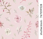 watercolor floral background... | Shutterstock . vector #767059528
