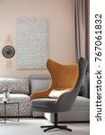 design of modern living room... | Shutterstock . vector #767061832