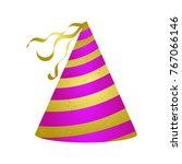 party hat isolated on white... | Shutterstock .eps vector #767066146