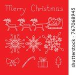 christmas set vector | Shutterstock .eps vector #767068945