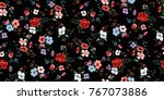 seamless floral pattern in... | Shutterstock .eps vector #767073886