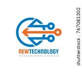 new technology   vector logo... | Shutterstock .eps vector #767081302