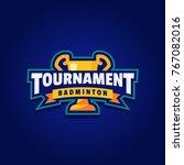 badminton tournament logo sport | Shutterstock .eps vector #767082016