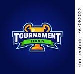 tennis tournament logo sport | Shutterstock .eps vector #767082022