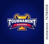 archery tournament logo sport | Shutterstock .eps vector #767082028