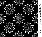 seamless floral geometrical... | Shutterstock .eps vector #767090272