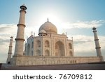 white marble taj mahal in india ... | Shutterstock . vector #76709812