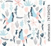 seamless pattern with colibri...   Shutterstock .eps vector #767104276