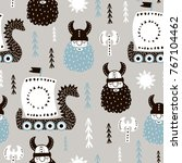 childish seamless pattern with... | Shutterstock .eps vector #767104462