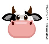 avatar of a cow on a white... | Shutterstock .eps vector #767108968