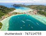 aerial view of tropical... | Shutterstock . vector #767114755