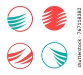 set icon ellipse | Shutterstock .eps vector #767118382