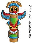 Tall Indian Totem   Vector...