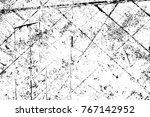 grunge black and white pattern. ... | Shutterstock . vector #767142952