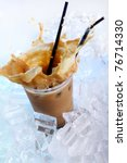 Cold Coffee Drink Wwith Ice An...