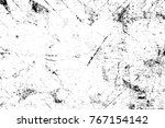 grunge black and white pattern. ... | Shutterstock . vector #767154142