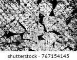 grunge black and white pattern. ... | Shutterstock . vector #767154145
