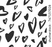 hand drawn texture. hearts ... | Shutterstock .eps vector #767157028