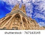 barcelona  catalonia  spain  ... | Shutterstock . vector #767163145