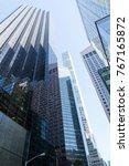 skyscrapers in manhattan. trump ... | Shutterstock . vector #767165872
