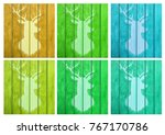 the figure of a deer on a... | Shutterstock . vector #767170786