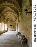 part of the cloister of the... | Shutterstock . vector #767175292
