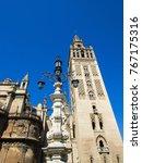the giralda of seville with... | Shutterstock . vector #767175316