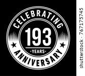 193 years anniversary logo...   Shutterstock .eps vector #767175745