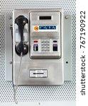 Close Up Of Public Payphone