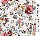 floral pattern in vector | Shutterstock .eps vector #767193142