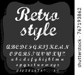 vector set of hand drawn fonts... | Shutterstock .eps vector #767193862