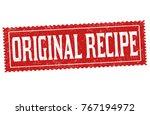 original recipe grunge rubber... | Shutterstock .eps vector #767194972