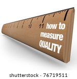 A Wooden Ruler With The Words...
