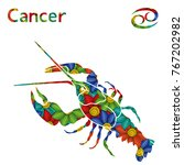 Zodiac Sign Cancer With Fillin...