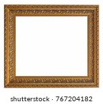 golden frame for paintings ... | Shutterstock . vector #767204182