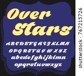 vector set of handwritten fonts ... | Shutterstock .eps vector #767215726