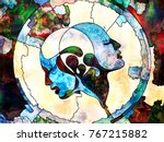 stained glass forever series.... | Shutterstock . vector #767215882