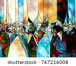 stained glass forever series.... | Shutterstock . vector #767216008