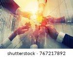 teamwork of partners. concept... | Shutterstock . vector #767217892