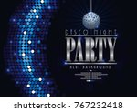 disco banner celebrating night... | Shutterstock .eps vector #767232418