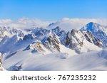 wintertime view from mt. titlis ... | Shutterstock . vector #767235232