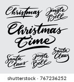 merry christmas handwriting... | Shutterstock .eps vector #767236252