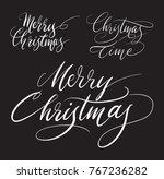 merry christmas handwriting... | Shutterstock .eps vector #767236282