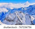 wintertime view from mt. titlis ... | Shutterstock . vector #767236756