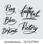 pray and victory  | Shutterstock .eps vector #767237902