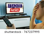 lies of tv propaganda... | Shutterstock . vector #767237995